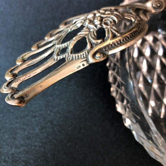 Винтажная вазочка из хрусталя и серебра