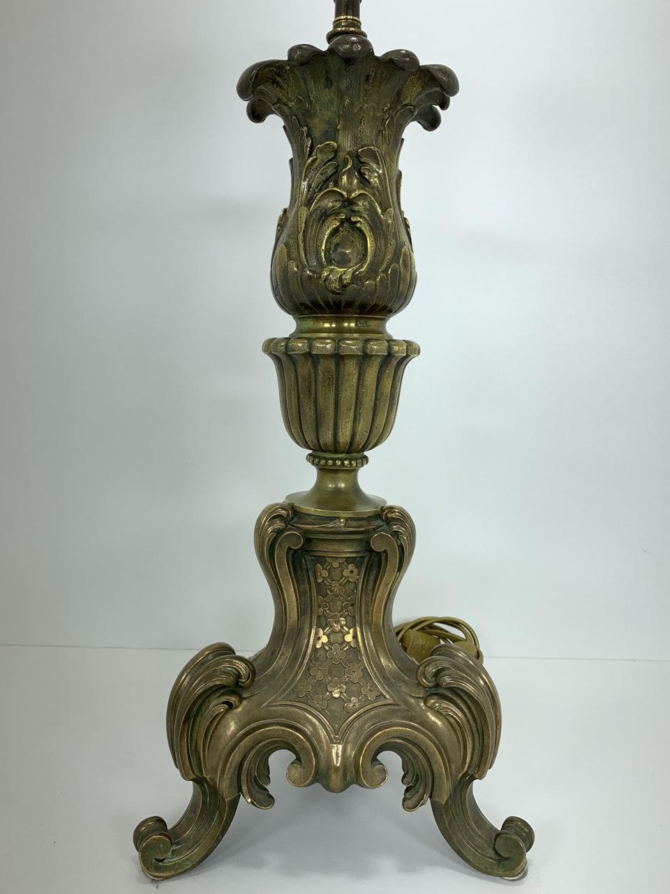 Винтажная бронзовая нога для лампы
