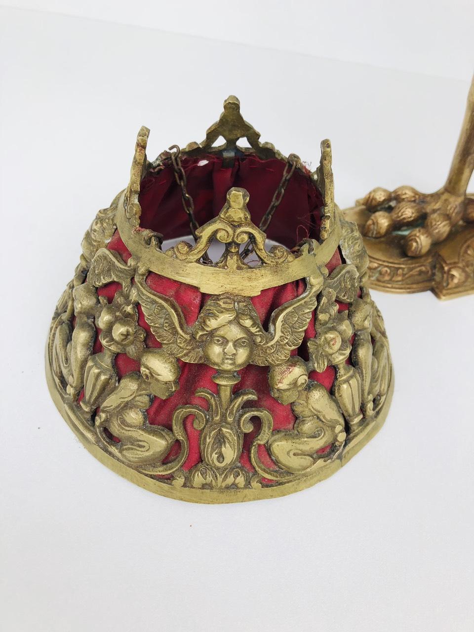 Антикварная настольная лампа из бронзы