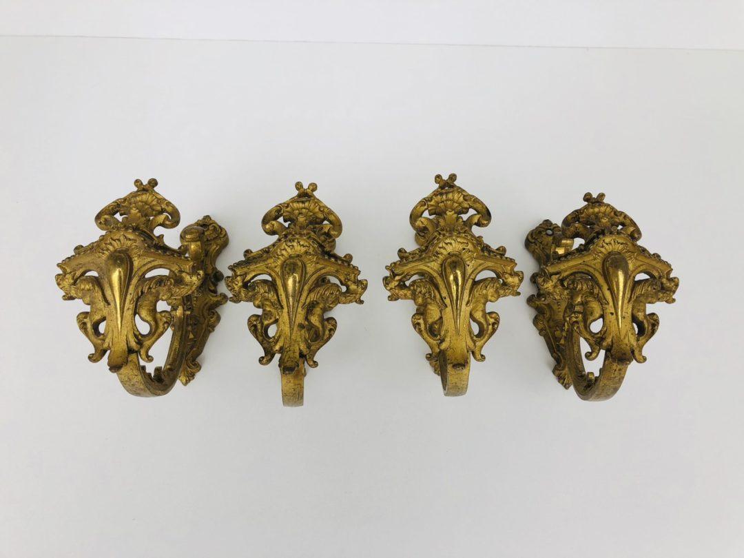 Антикварные бронзовые держатели для штор