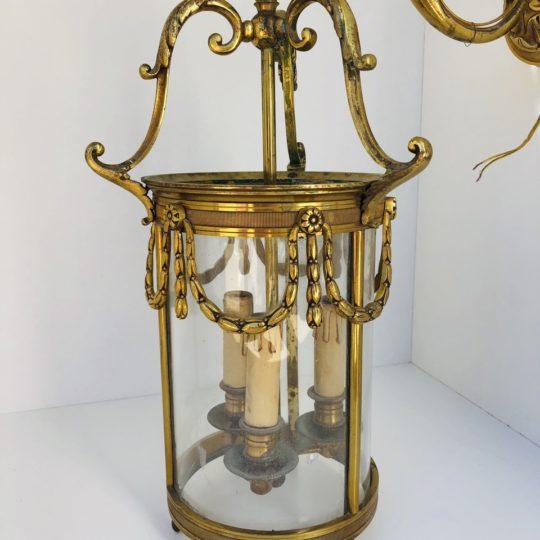 Винтажный настенный фонарь из бронзы