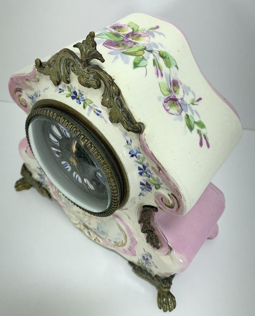 Антикварные фаянсовые часы