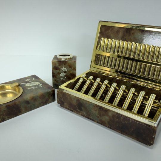 Винтажный набор для курения из камня оникс