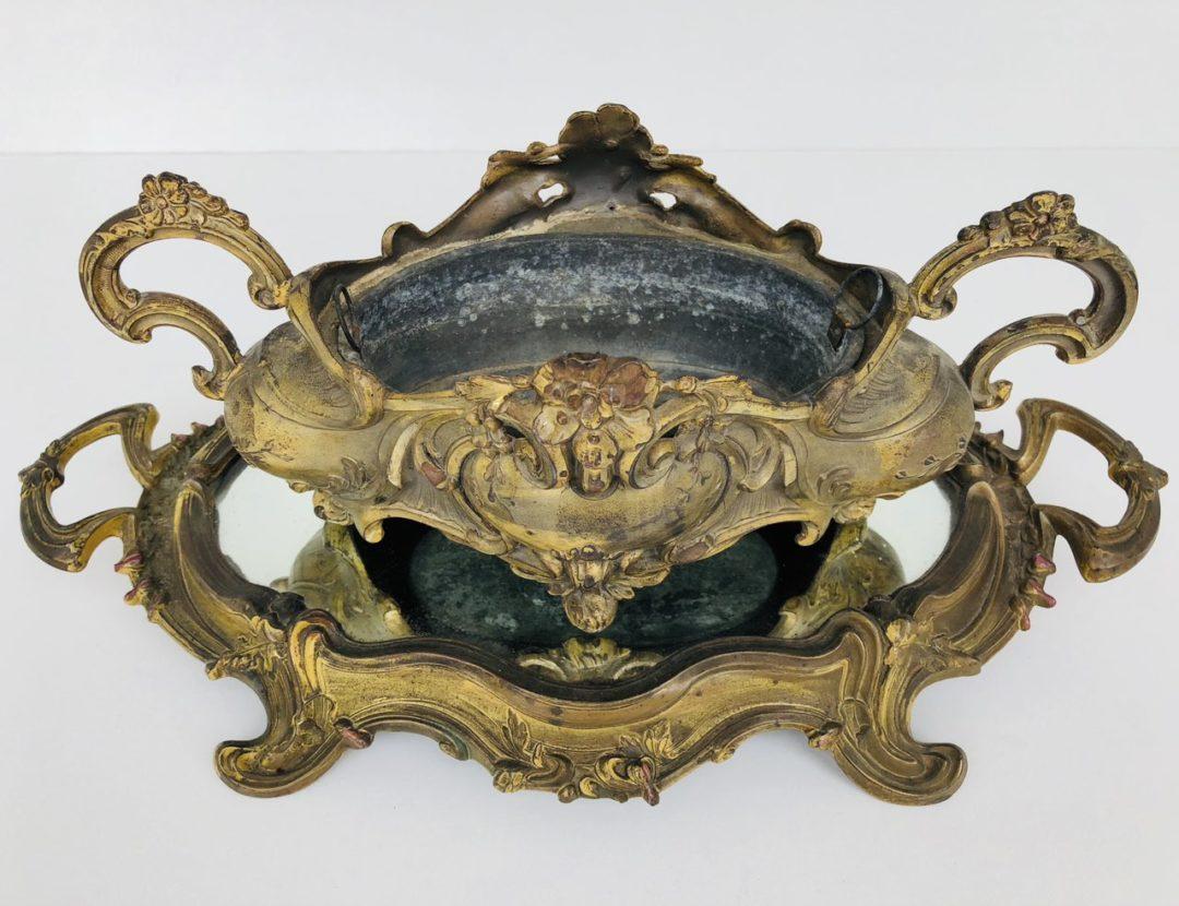 Антикварная жардиньерка с подносом в стиле Рококо
