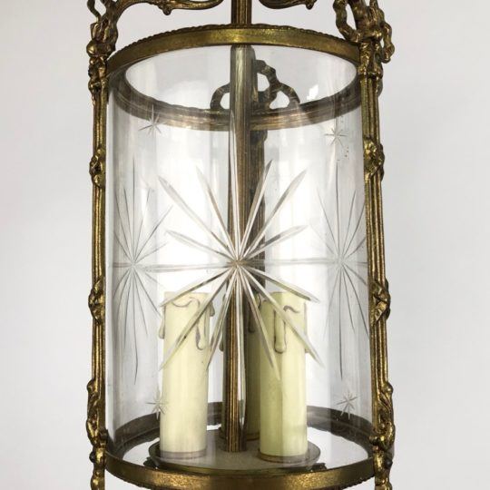 Пара винтажных бронзовых фонарей