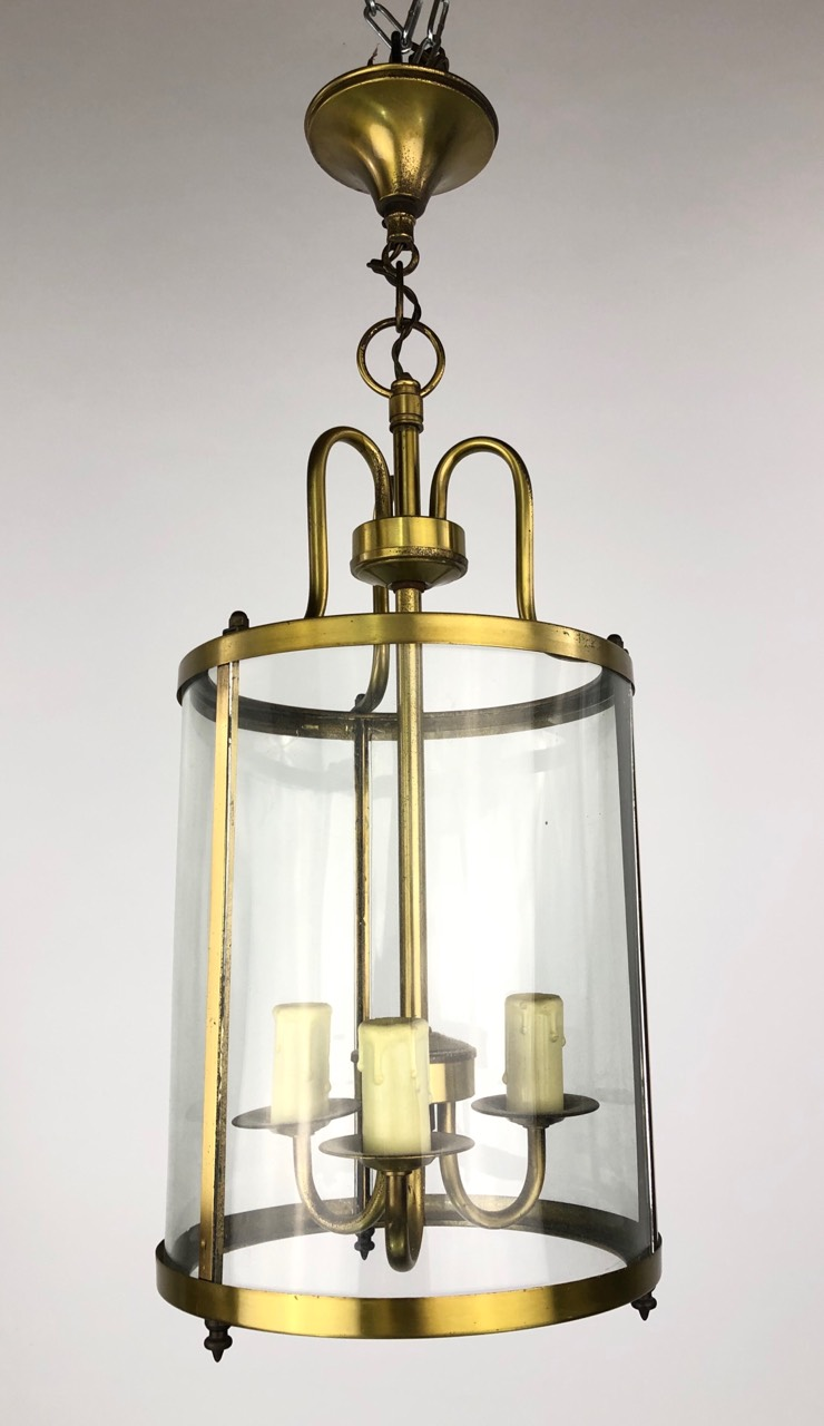 Винтажный латунный фонарь