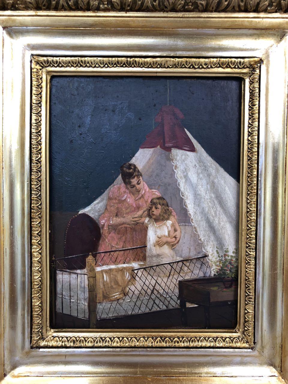 Антикварная картина конца 19-го века