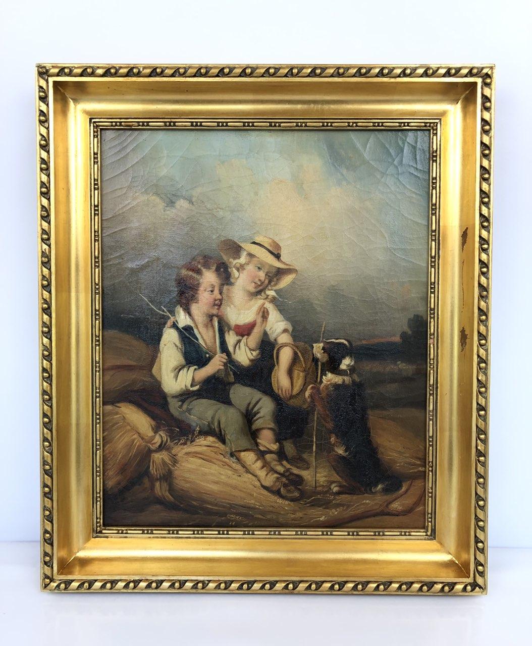 Антикварная живопись 19-го века