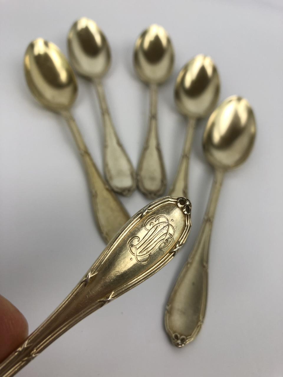 Антикварные чайные ложечки из серебра