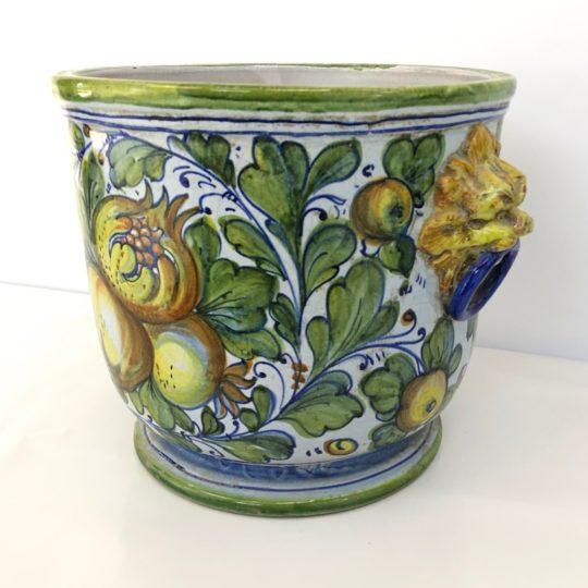 Антикварное керамическое кашпо