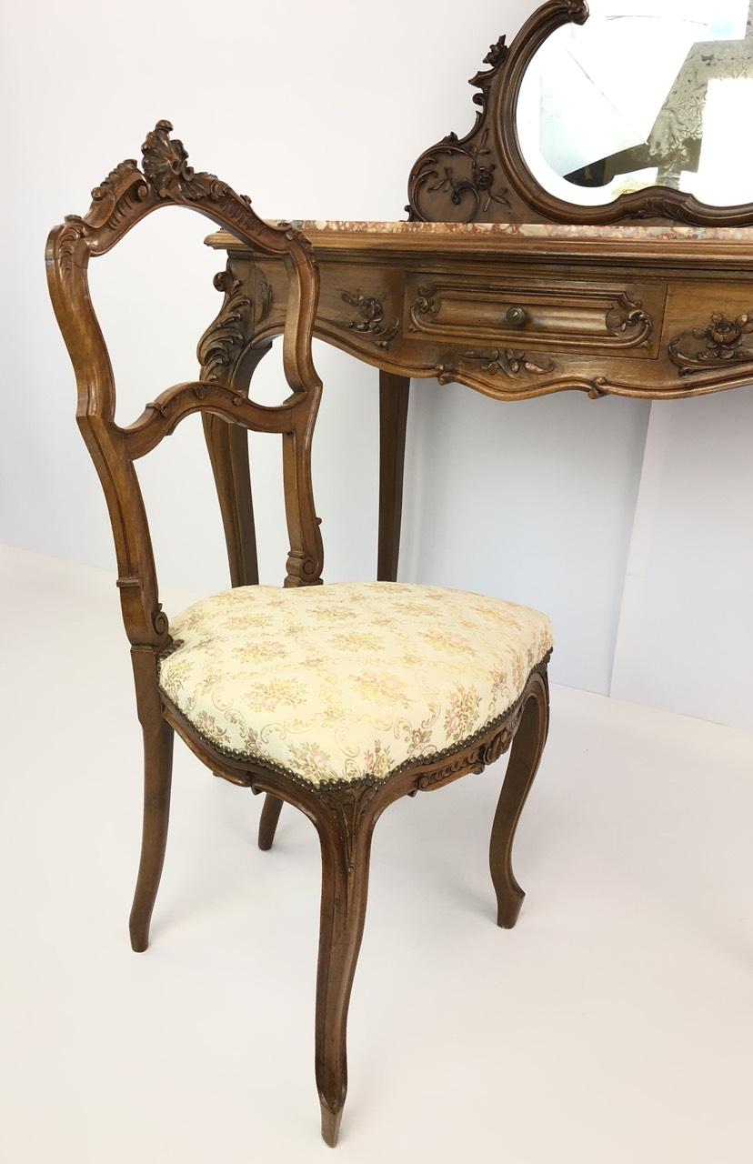 Антикварный дамский столик в стиле Рококо