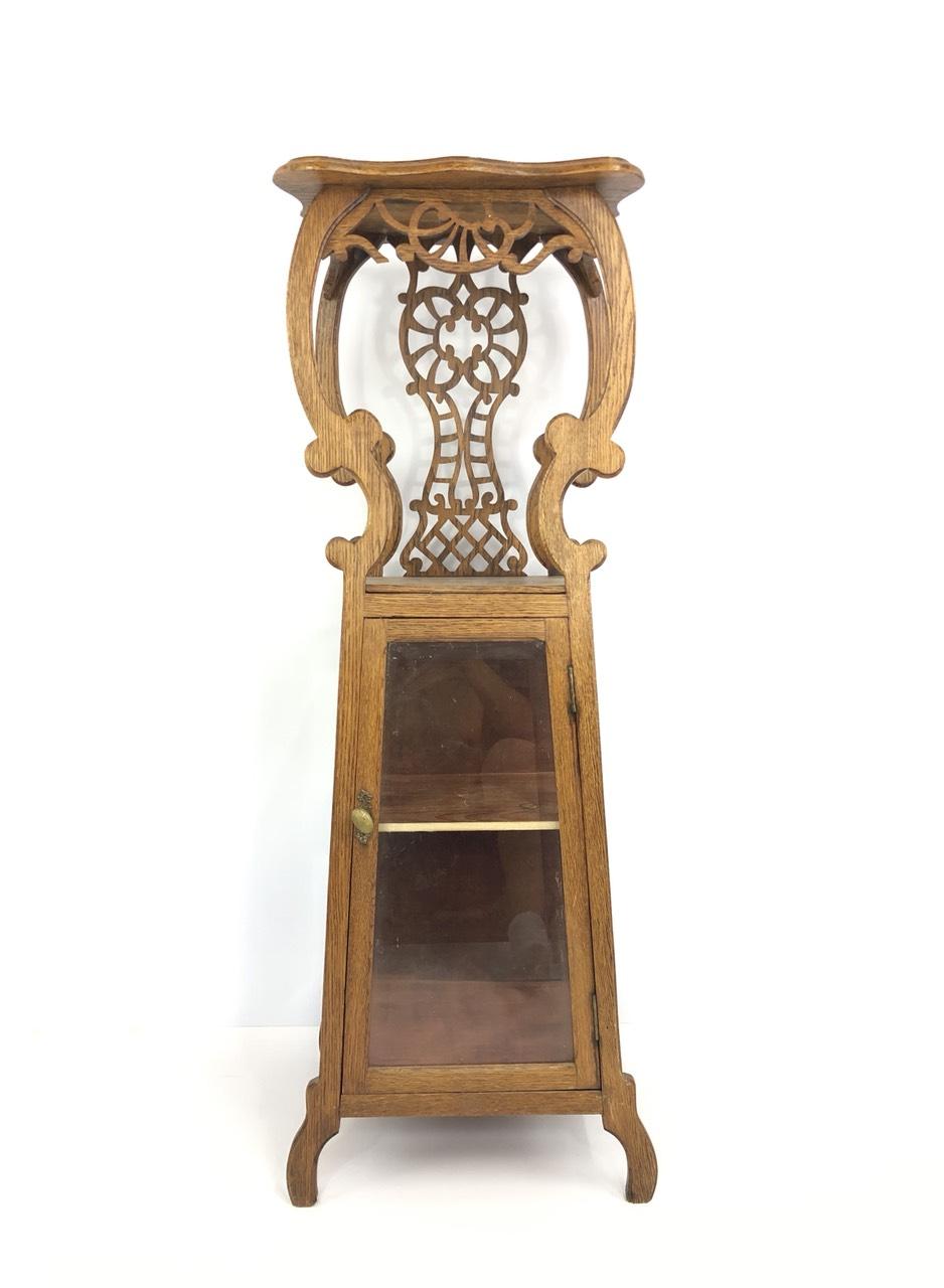 Антикварная дубовая стойка в стиле Ар-Нуво