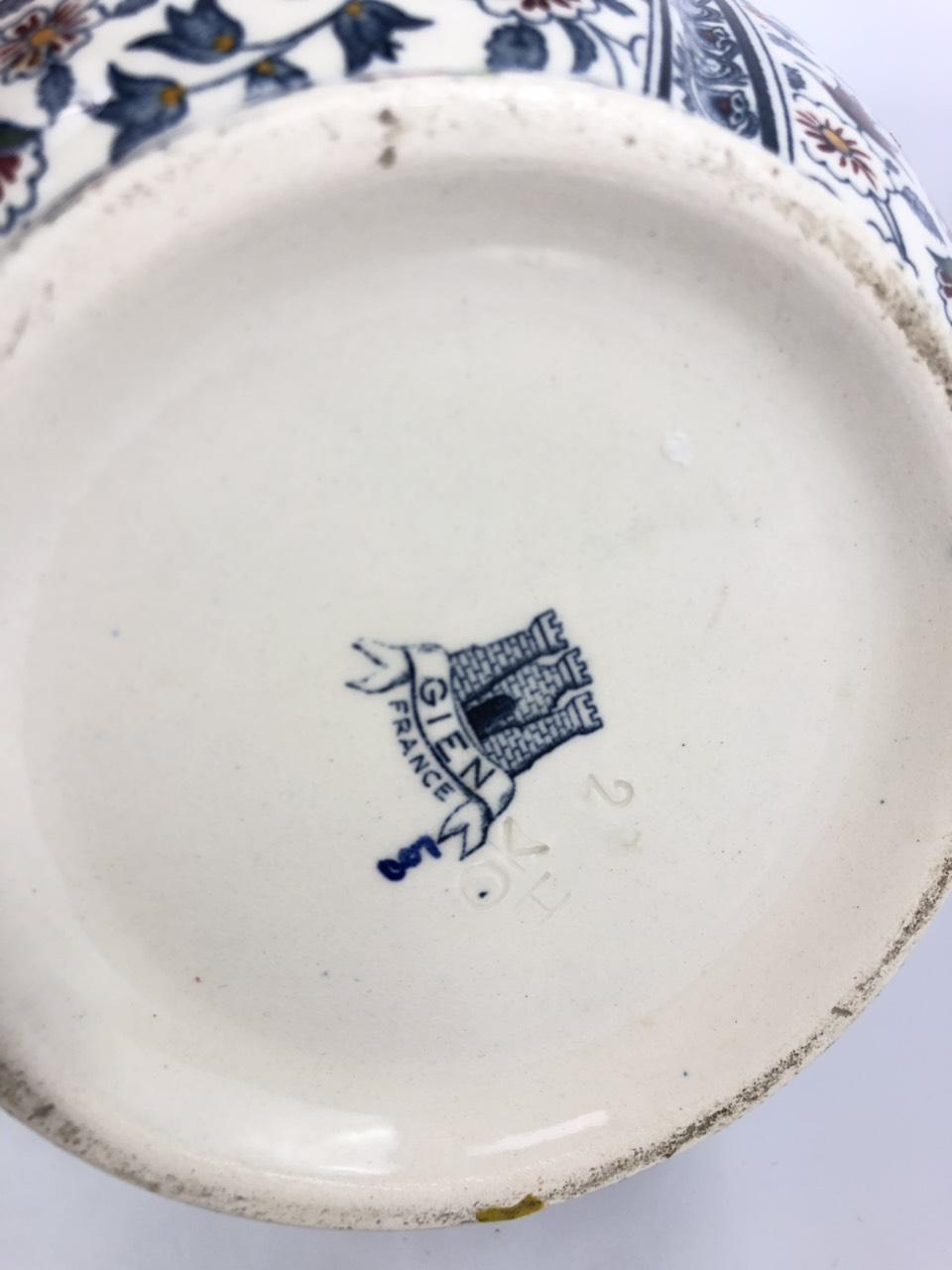 Винтажная ваза французской мануфактуры Gien
