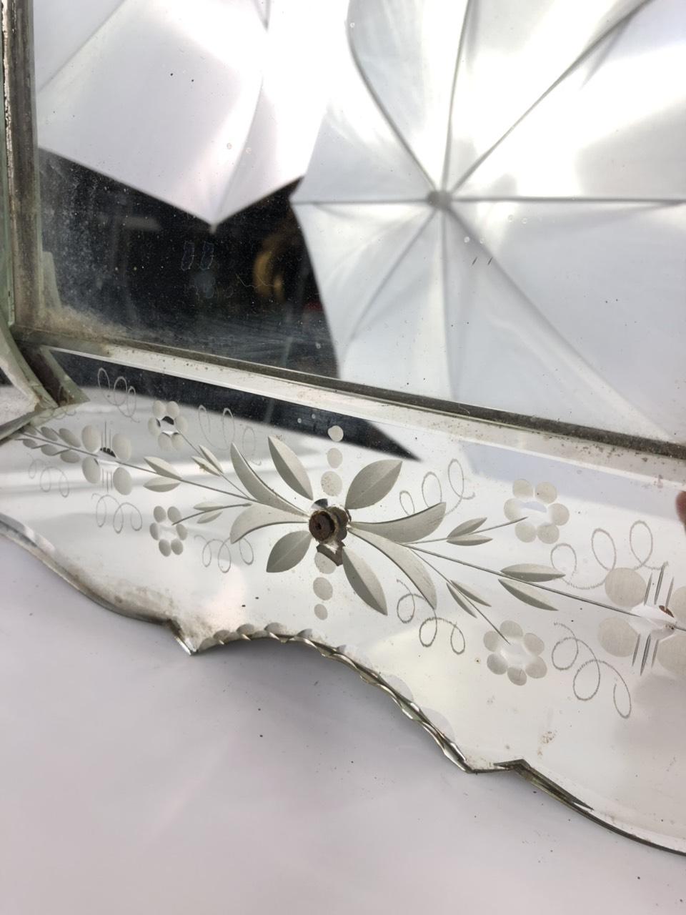 Антикварное зеркало в венецианском стиле