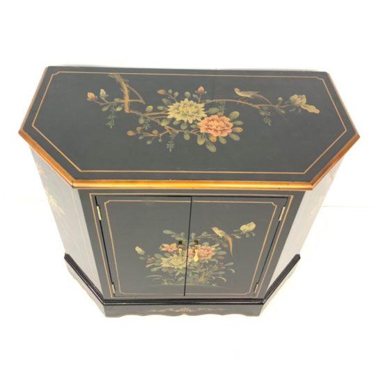 Винтажная расписная тумбочка в стиле Шинуазри