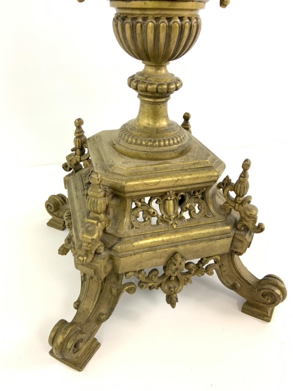 Антикварный бронзовый канделябр