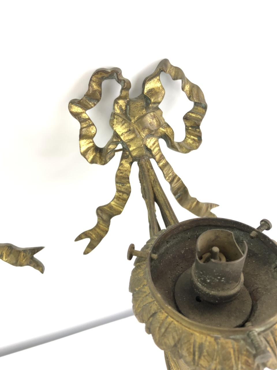 Антикварная пара бронзовых бра