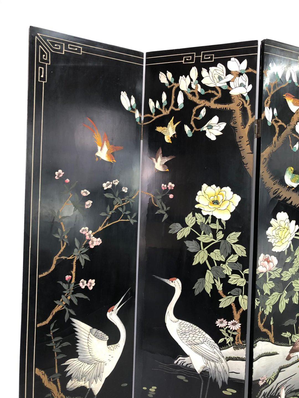 Винтажная ширма в стиле Шинуазри