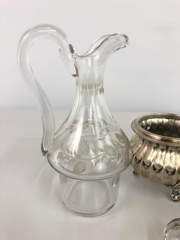 Антикварный столовый набор для масла и уксуса