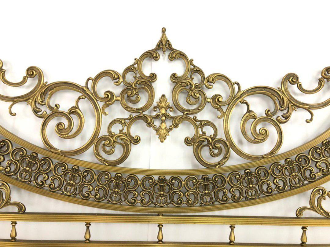 Винтажная кровать из бронзы