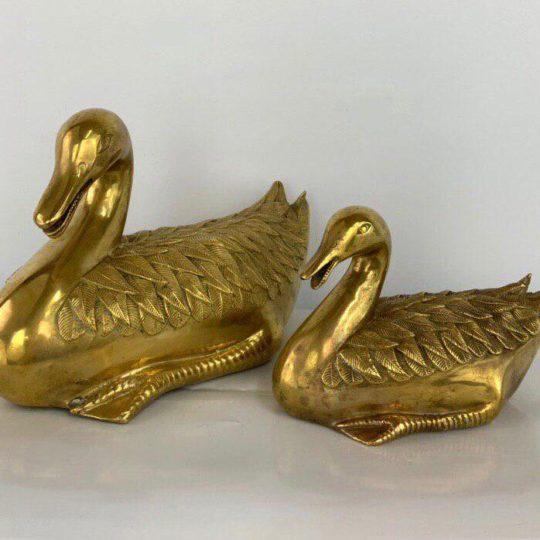 Винтажные бронзовые утки