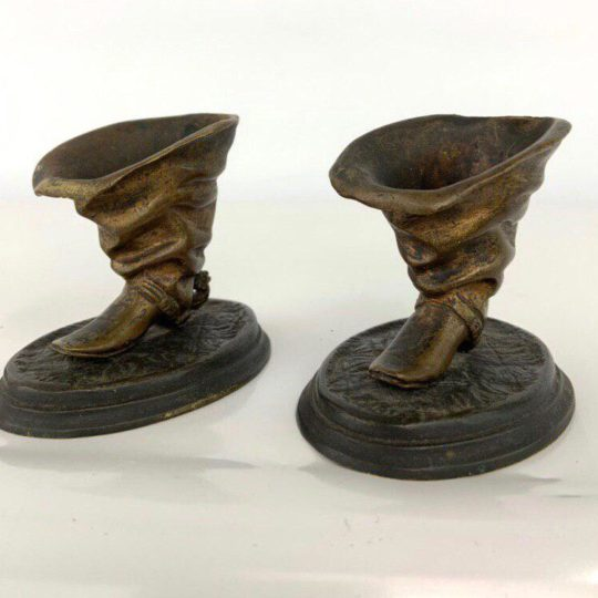 Антикварная бронзовая пара сапожек