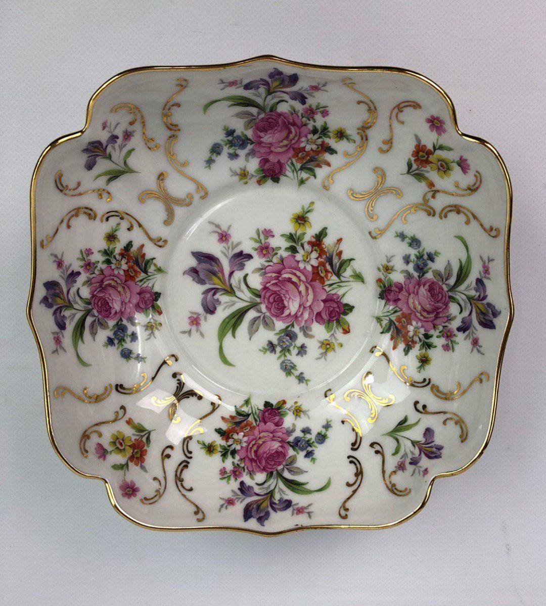 Фарфоровая тарелка  для пунша или фруктового салата