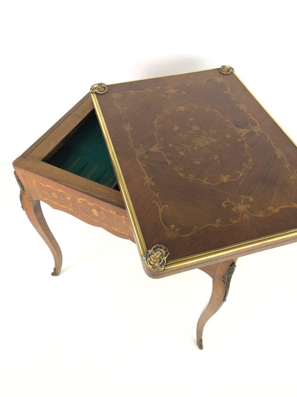 Антикварный игровой столик