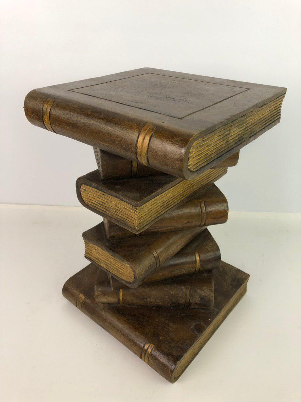 Винтажный столик из массива дерева