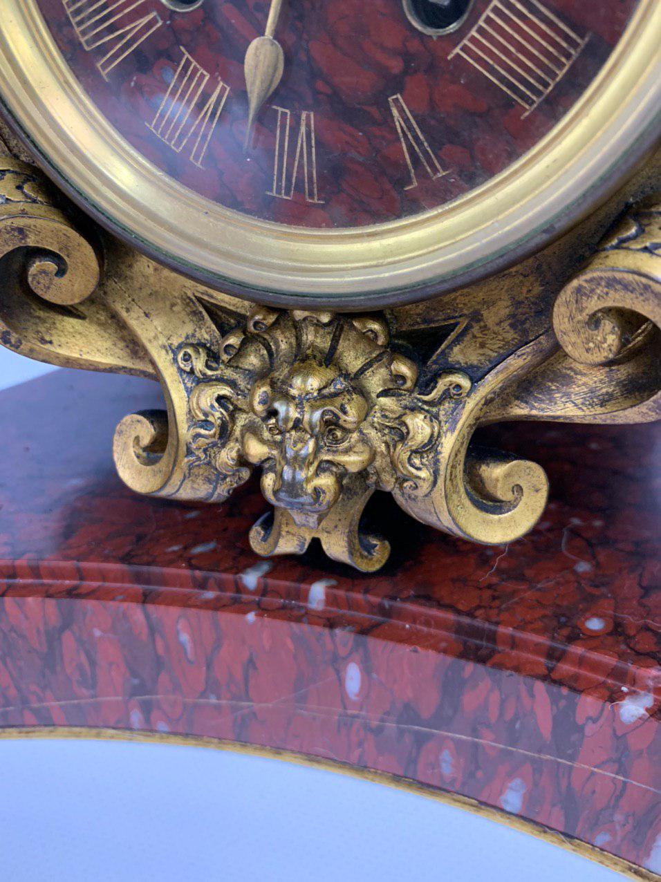 Антикварные мраморные часы