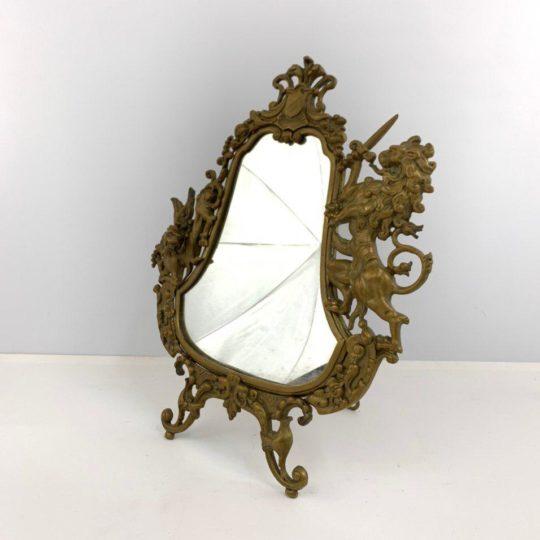 Антикварное бронзовое зеркало
