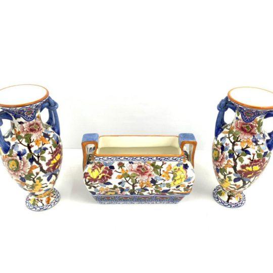 Винтажные фаянсовые вазы Gien
