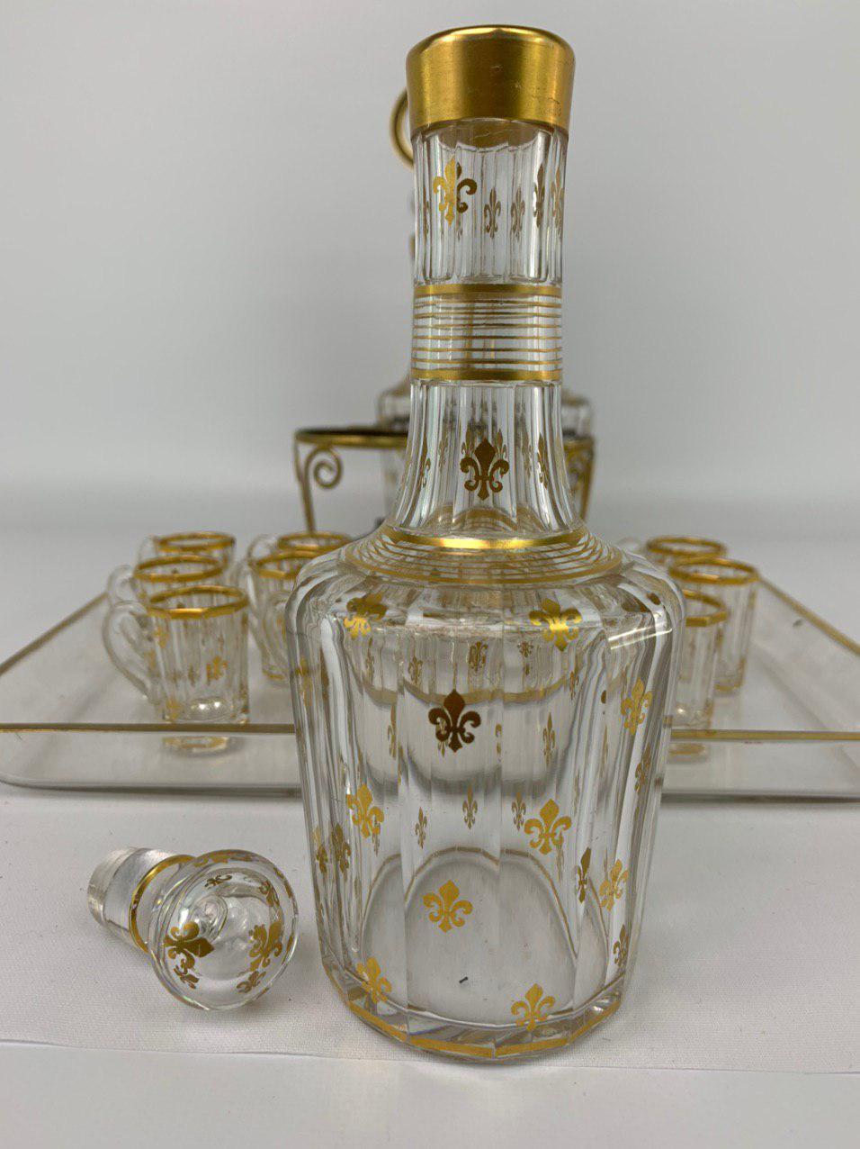 Антикварный ликерный набор эпохи Наполеона III