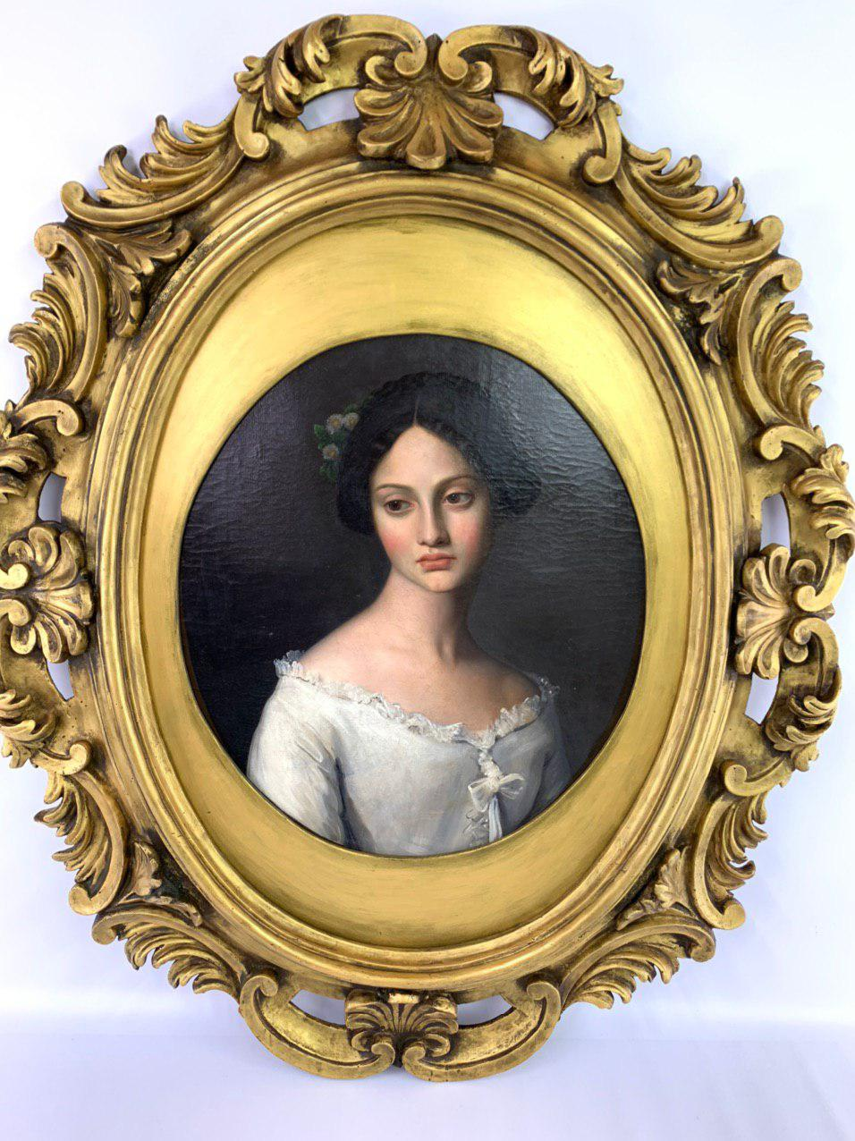 Антикварная живопись середины 19-го века