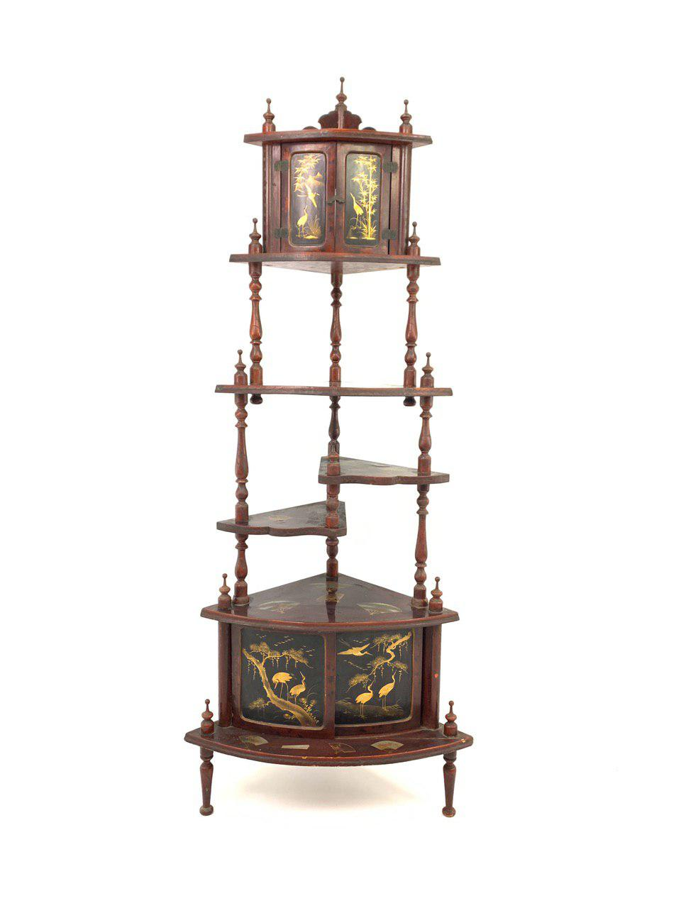 Антикварная этажерка в стиле Шинуазри