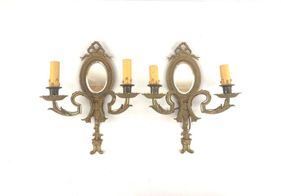 Антикварные бра с зеркалом в стиле  Людовика XVI