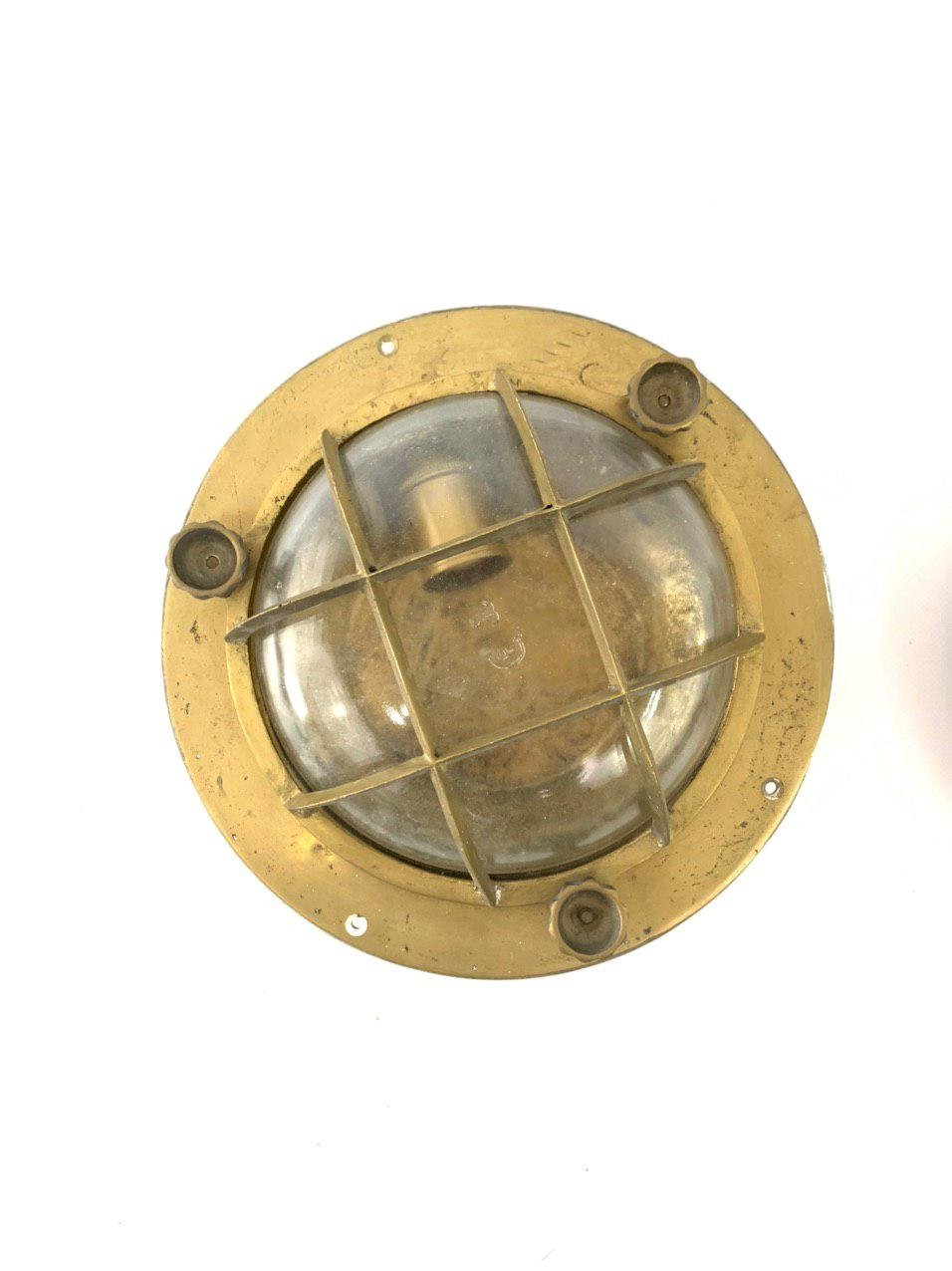 Антикварные палубные фонари из бронзы