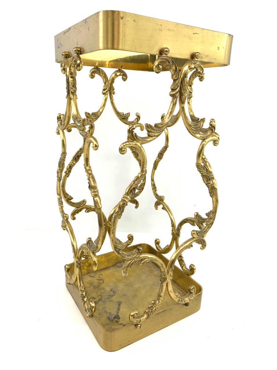 Винтажная бронзовая корзина для зонтов