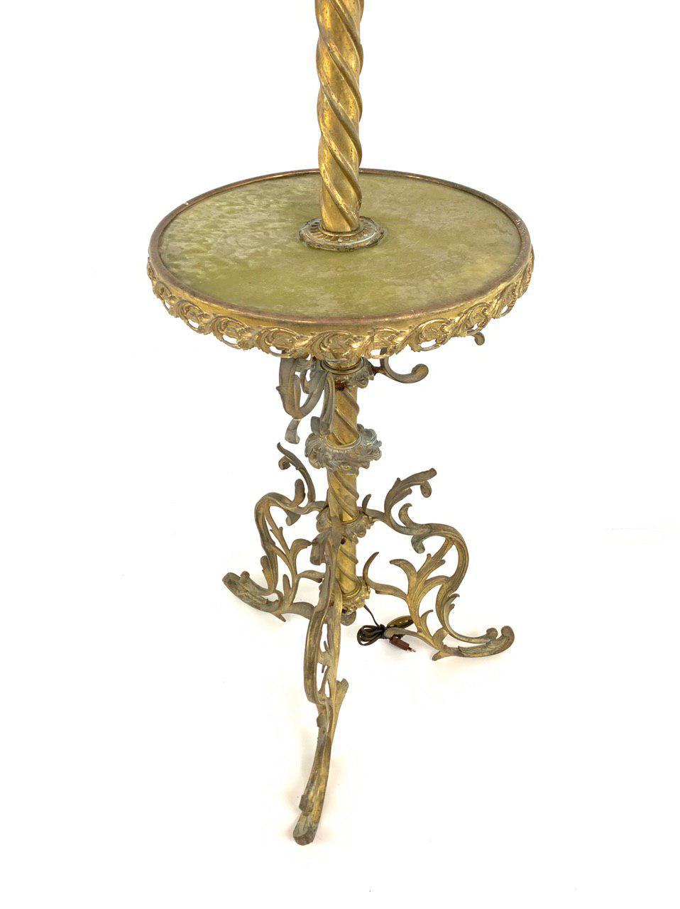 Антикварная напольная лампа из бронзы