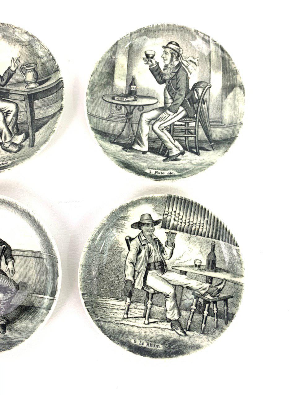 Серия из шести декоративных тарелок