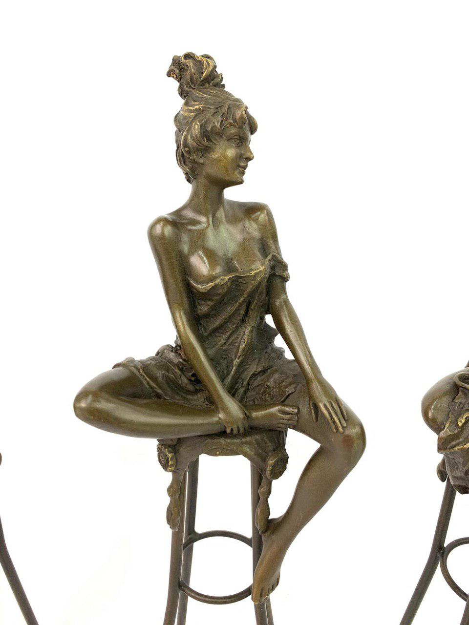 Винтажные статуэтки из бронзы