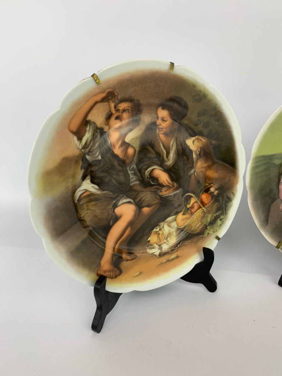 Винтажные сюжетные тарелки от Лимож