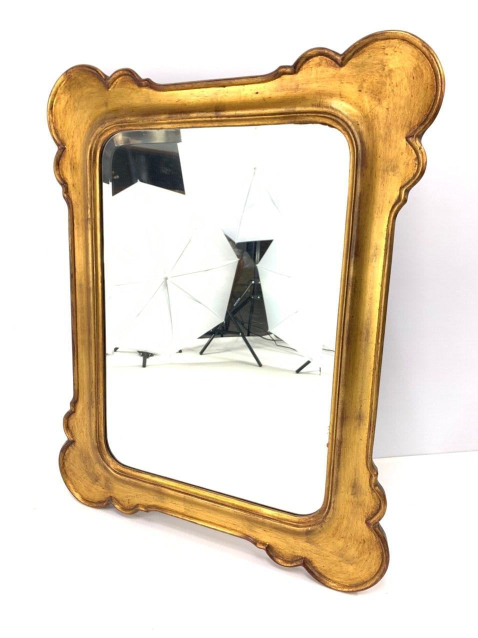 Винтажное зеркало в золочёной раме