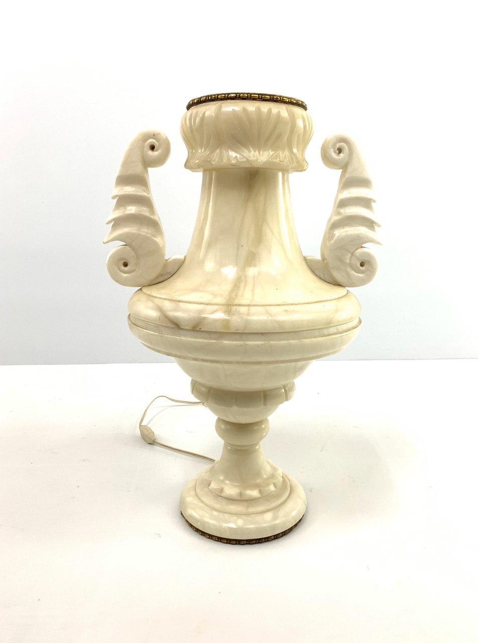 Винтажная лампа из альбатра