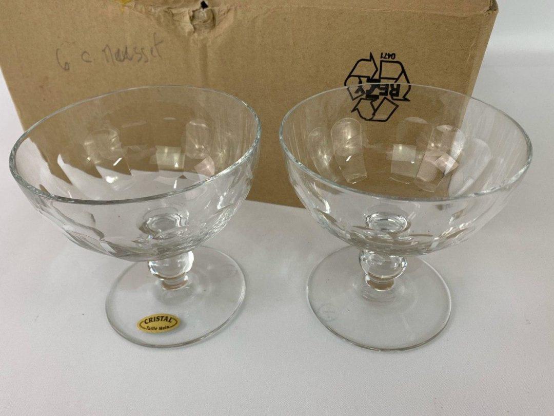 Винтажные бокалы для грога и пунша марки Баккара