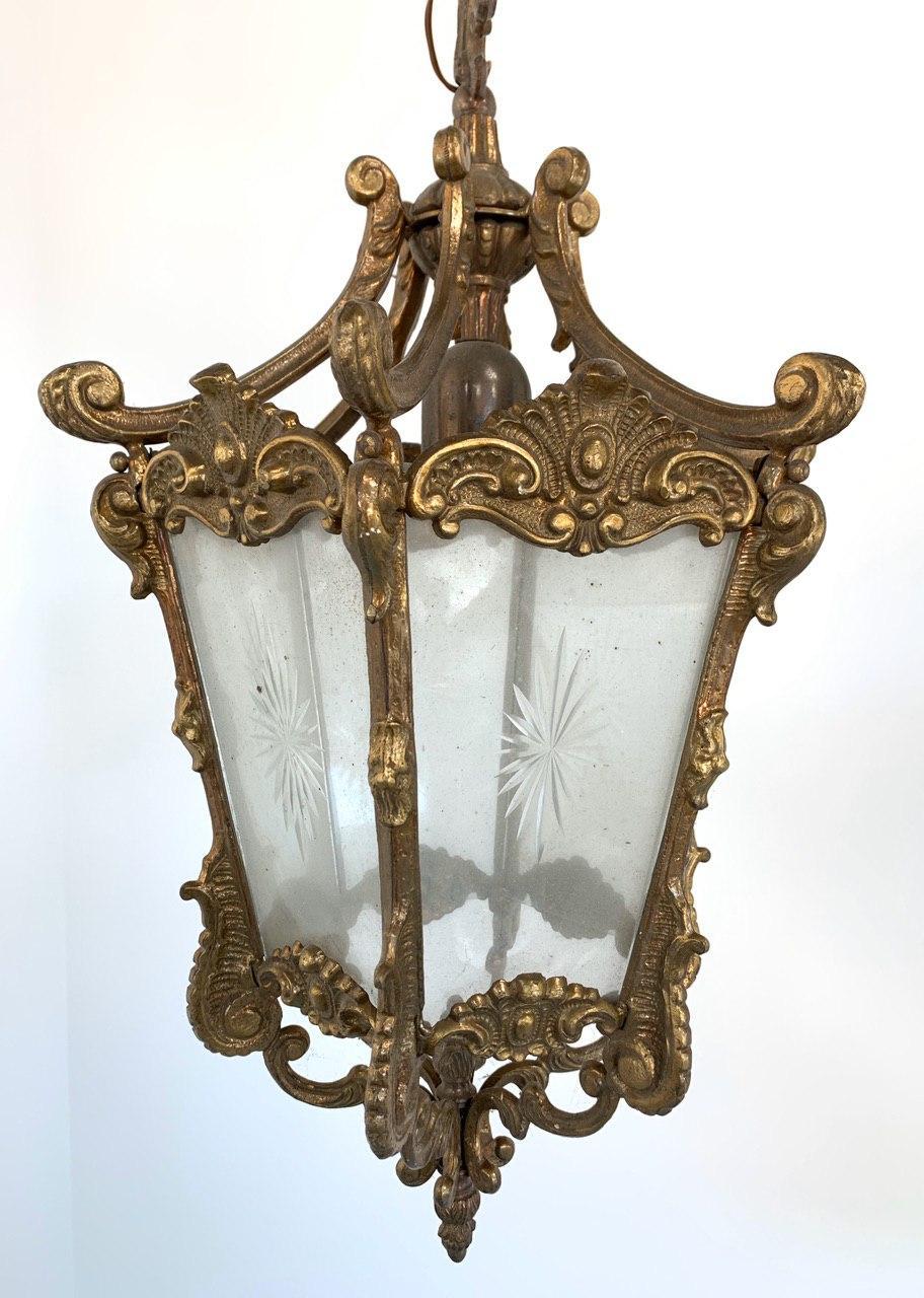 Винтажный фонарь из бронзы