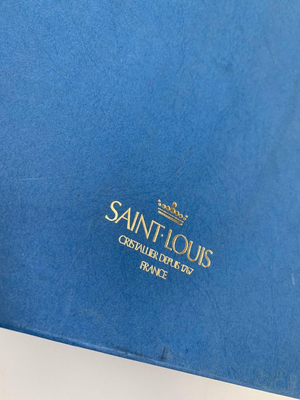 Винтажный хрустальный графин со стаканом на ночной столик, от Saint-Louis
