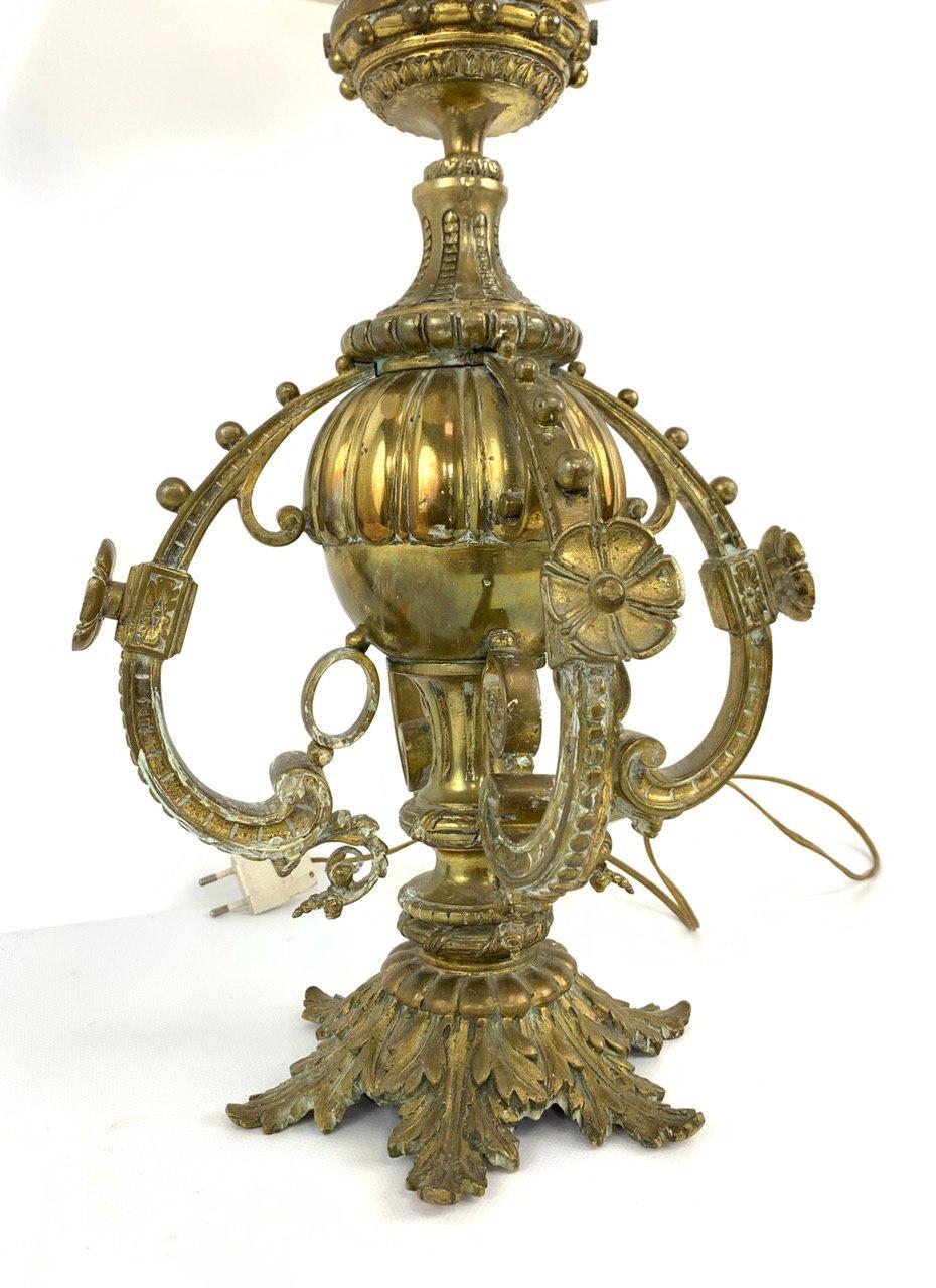 Антикварная лампа из бронзы