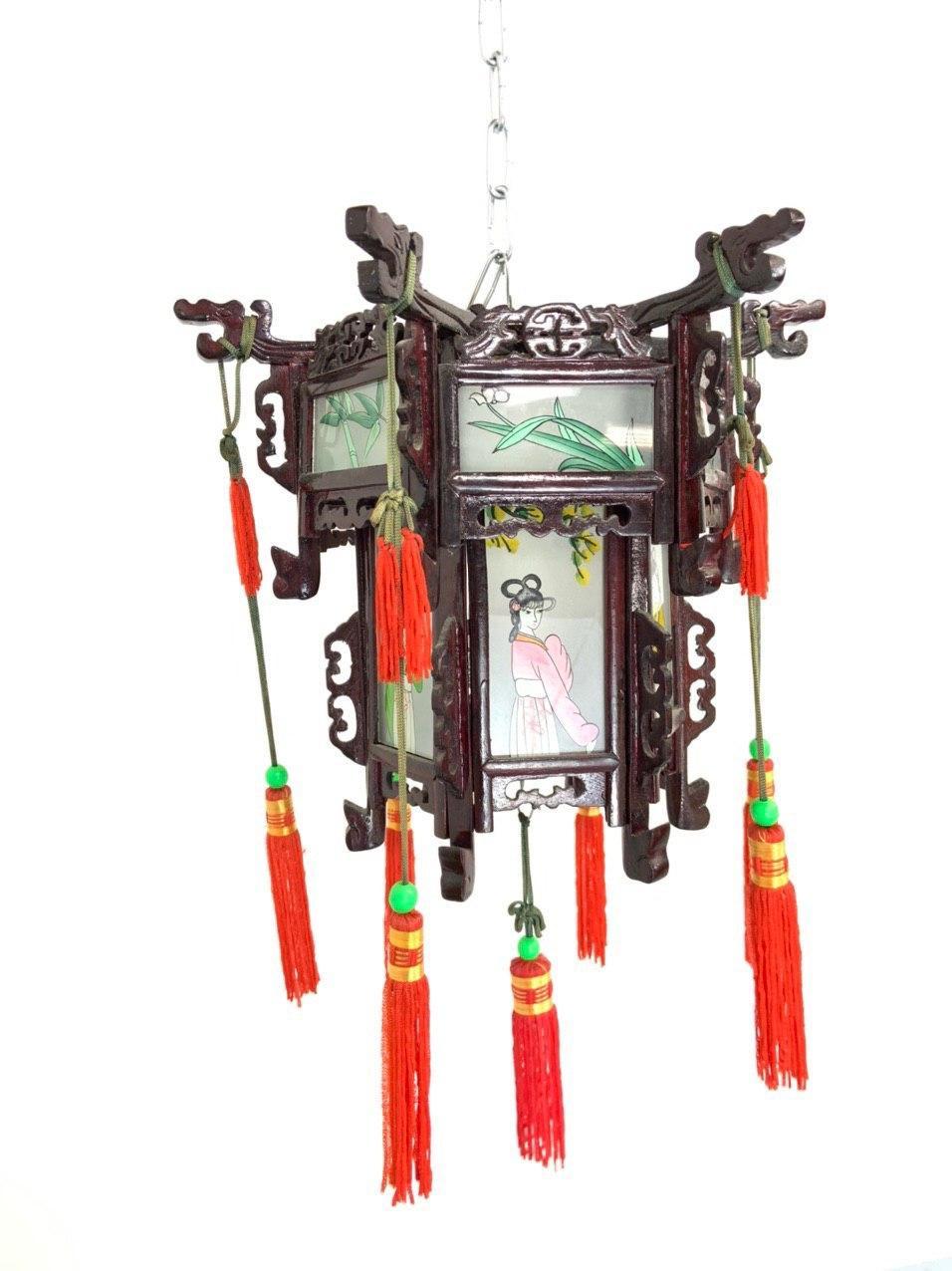 Винтажный фонарь в стиле Шинуазри