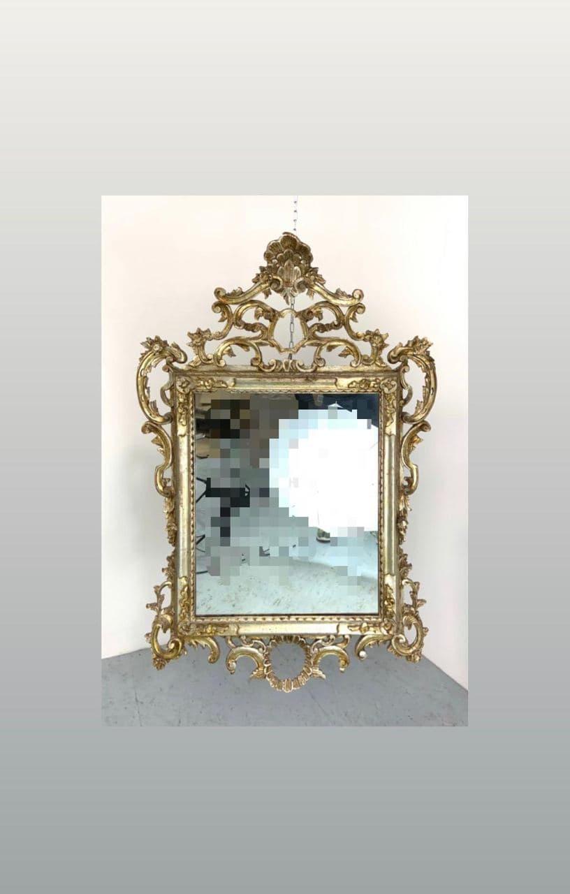 Антикварное зеркало из дерева